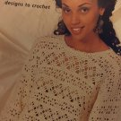Patons Weekender Lacy tops Crochet Pattern booklet 720 lace sweaters in cotton yarn
