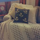 Aunt Lydias Denim Days Home Decor Crochet book Afghans Pillow Curtains 0125