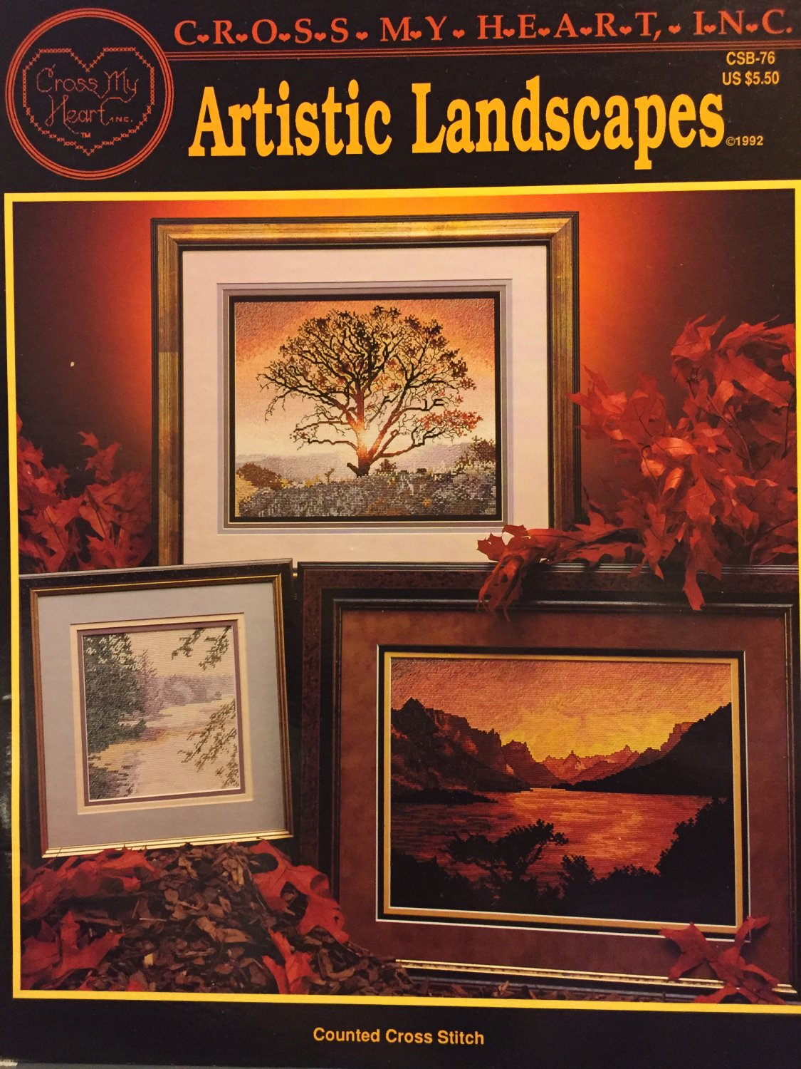 Artistic Landscapes Cross Stitch charts CROSS MY HEART CSB-76
