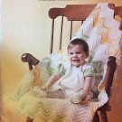 Christening Gown Knitting Pattern Baby crochet afghan, baby booties Columbia Minerva Book 792