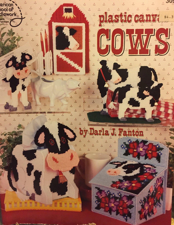 Plastic Canvas COWS American School of Needlework 3096 Darla Fanton