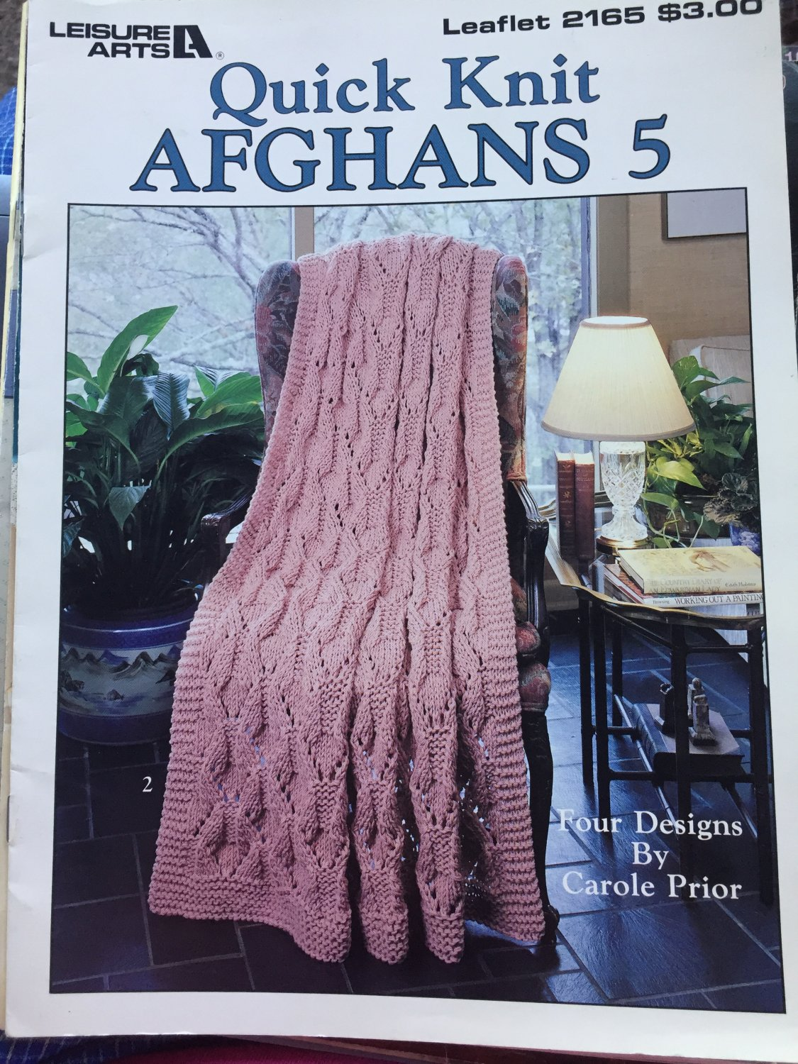Quick Knit Afghans 5 by Carole Prior Leisure Arts 2165 Knitting Pattern