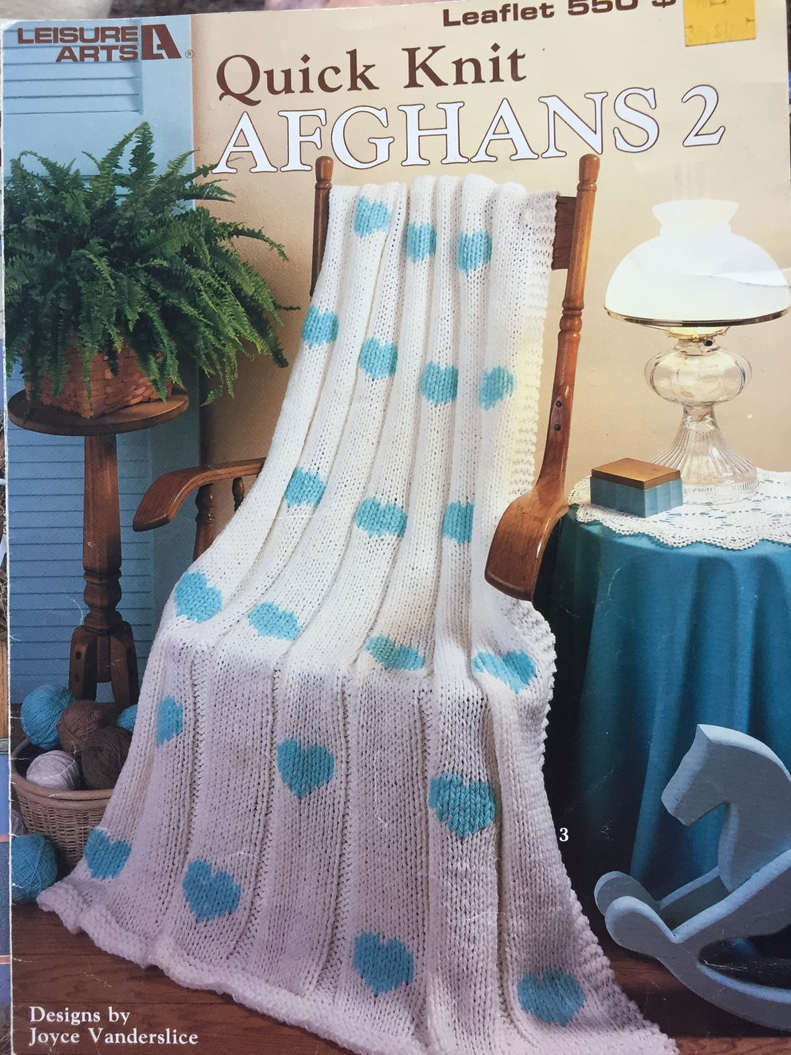 Quick Knit Afghans 2 by Joyce Vanderslice Leisure Arts 550 Knitting Pattern