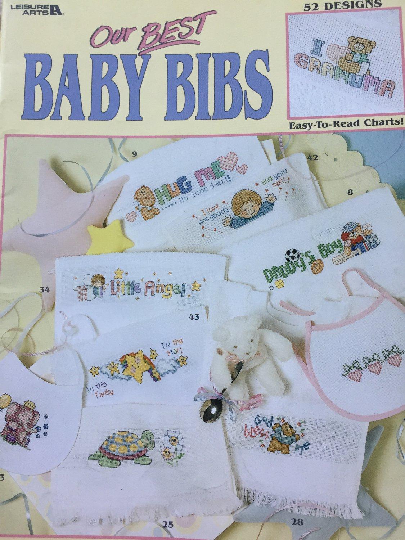 Our Best Baby Bibs Cross Stitch Charts Leisure Arts 3272  52 Designs