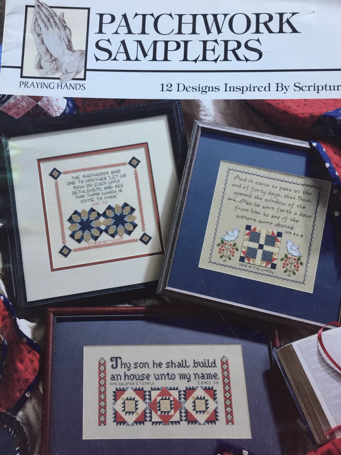 Patchwork Samplers designs inspired by Scripture Cross Stitch Charts Leisure Arts 24013