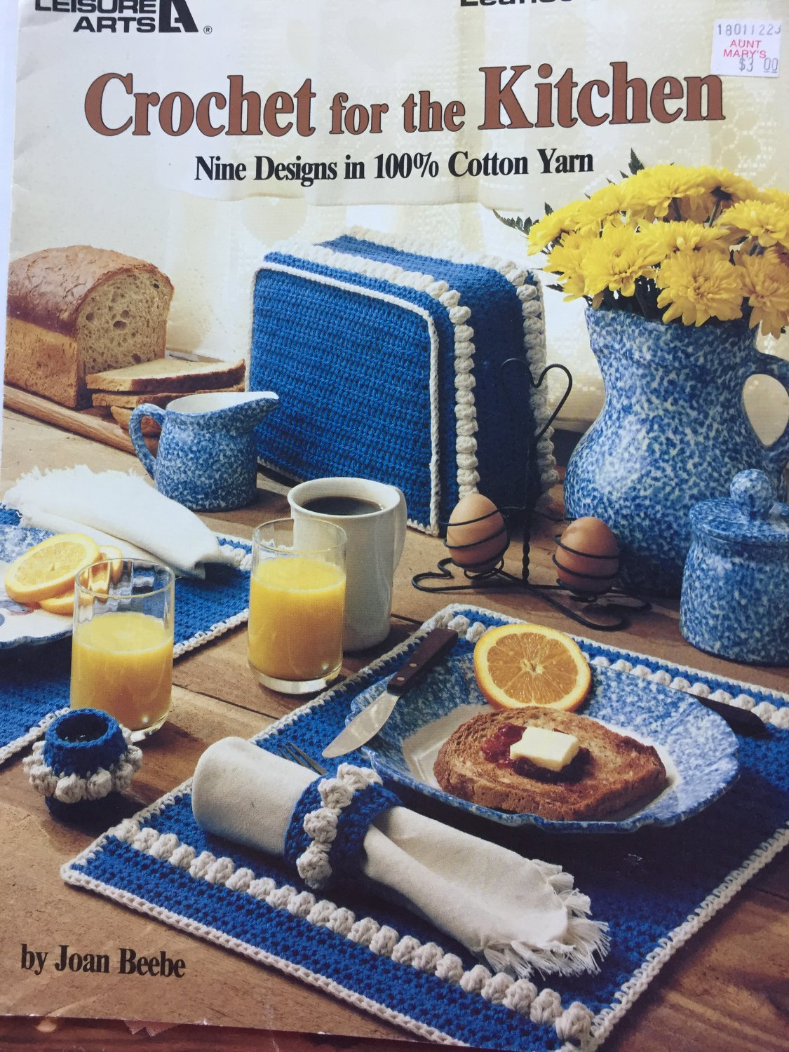 Crochet for the Kitchen Leisure Arts 953 9 designs using cotton yarn
