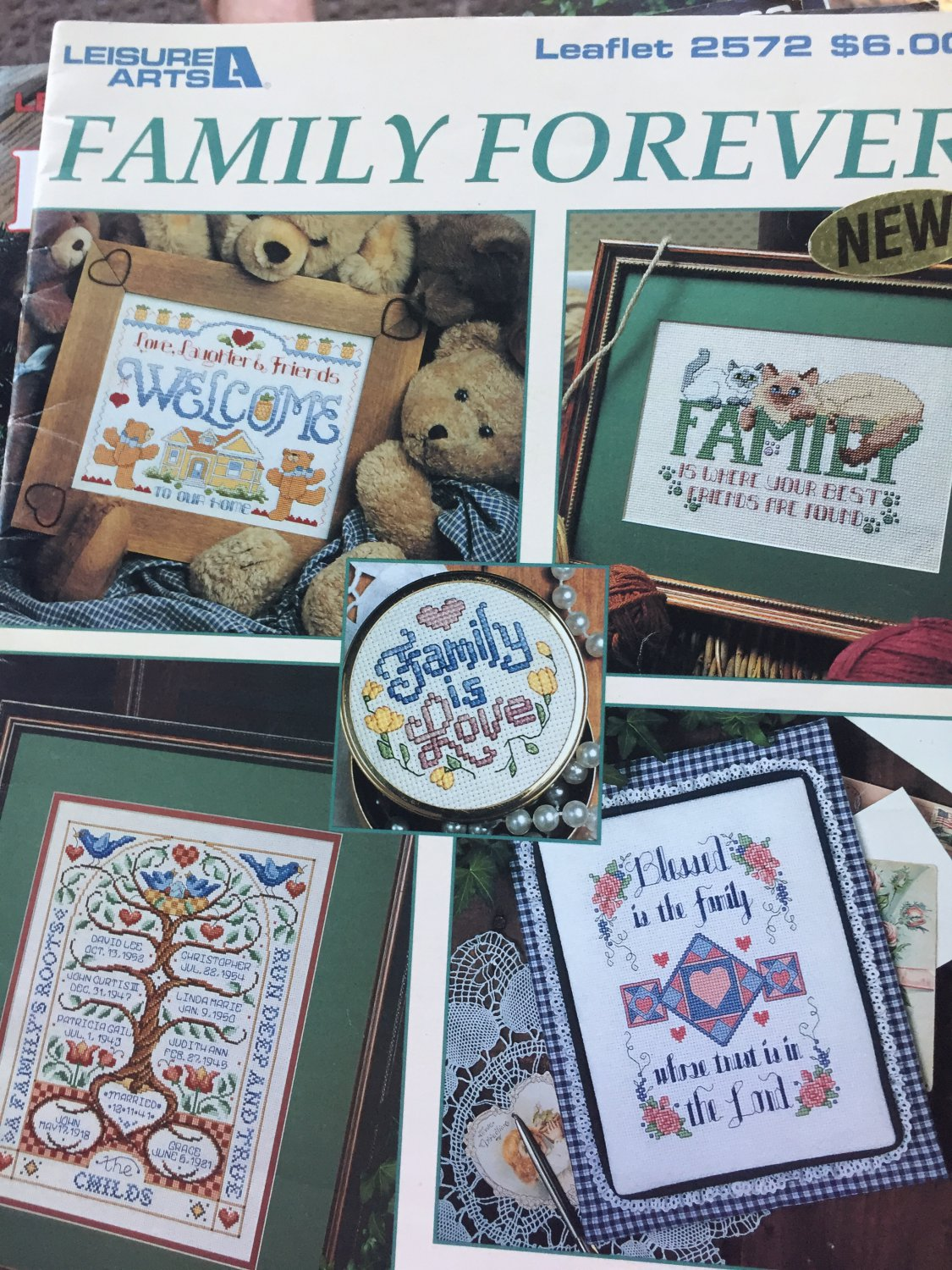 Family Forever Cross Stitch Charts Leisure Arts 2572