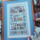 Busy Hands Happy Heart cross stitch sampler chart GRAPH-IT Arts by Lynn Waters Busa 53