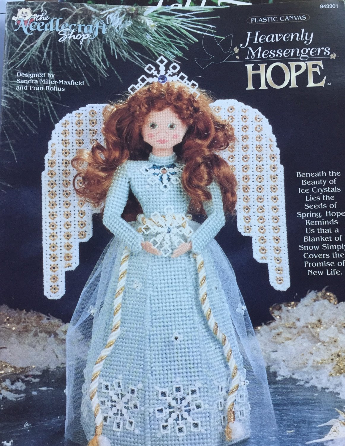Angel Plastic Canvas Pattern Heavenly Messengers HOPE by The Needlecraft Shop