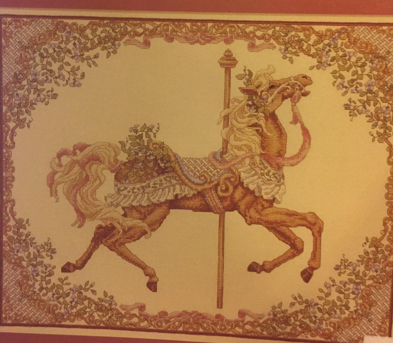 Teresa Wentzler Carousel Horse Spring Cross Stitch Chart JUST CROSS STITCH leaflet 99