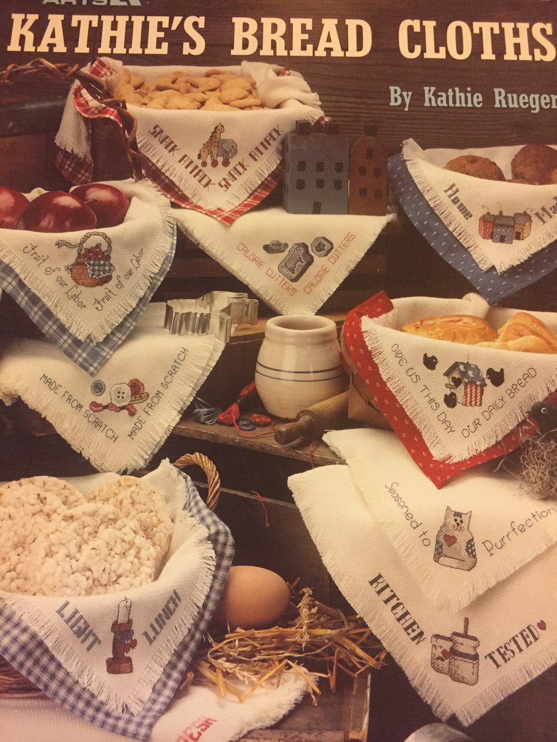 Kathie´s Bread CLoths by Kathy Rueger Cross Stitch Charts Leisure Arts Leaflet 2226