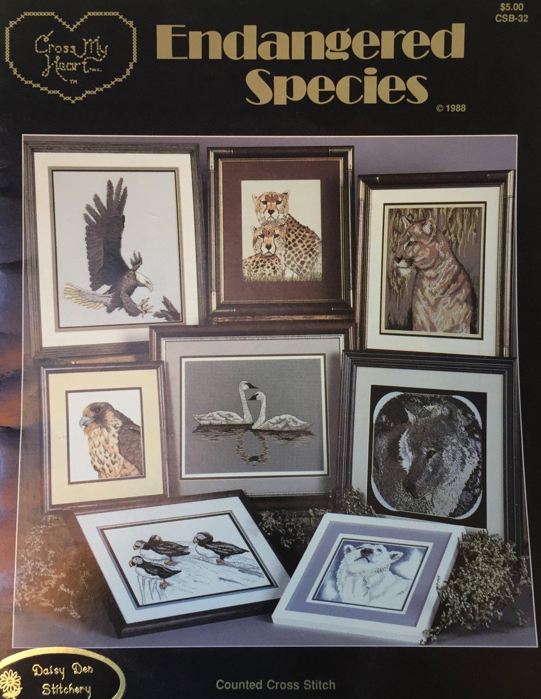 Endangered Species Cross Stitch Charts Cross My Heart CSB32
