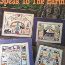 Speak to The Earth Cross Stitch Pattern Leisure Arts Leaflet #2970 Bible Verses