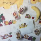 Bibs & Sips Baby Bibs Sippy Cups Cross Stitch Charts Leisure Arts 2370