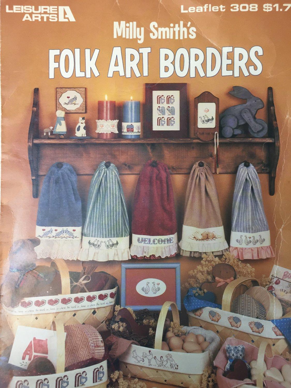 Milly Smiths Folk Art Borders Cross Stitch Charts Leisure Arts 308
