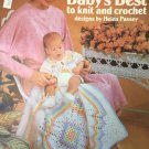 Leisure Arts #191, Baby's Best to Knit and Crochet by Helen Passey Rainbow Crochet Layette