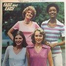 Vintage t-shirt sewing pattern BUTTERICK  4614 uncut size 10 bust 32 1/2