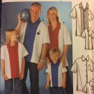 Bowling Shirts Adult, Child Teen XS-XL Uncut Simplicity 7208 Sewing Pattern