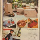 Simplicity 9255 Sewing Pattern Kitchen Appliance Covers Pot Holders Apron Place Mats Napkins