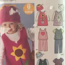 Simplicity 5317 Toddlers' Jumper or Pants Knit Top and Hat Sewing Pattern  Size 1/2 to 4