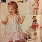 New Look 6383 Size Newborn to Large Summer Dress and panties Sewing Pattern
