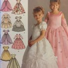 Simplicity 4764 Child's Design Your Own Special Occasion Dress Pattern Size 3-6