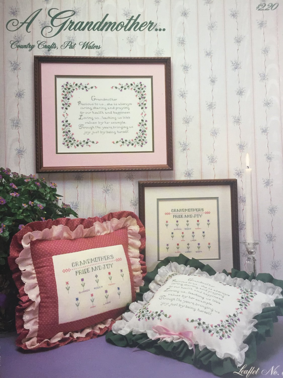 Grandmother Tribute Sampler Cross Stitch Chart by Pat Waters Country Crafts