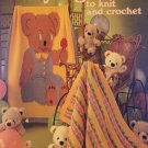 Baby Afghans 3 to Knit and Crochet VIntage Leisure Arts Pattern 181 Extra Easy from 1980