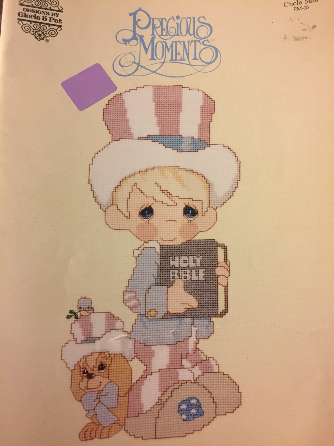 GLORIA & PAT Uncle Sam Precious Moments COUNTED CROSS STITCH PATTERN