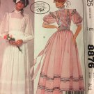 McCall's 8876 Sewing Patterns Misses Bridal Wedding Dress or gown by Laura Ashley Size 6