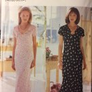 Butterick 6056 Misses Dress and Slip David Warren UNCUT Size 18 to 24 Sewing Pattern