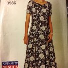 Butterick 3986 See & Sew Misses Dress Size 18 to 22 Sewing Pattern