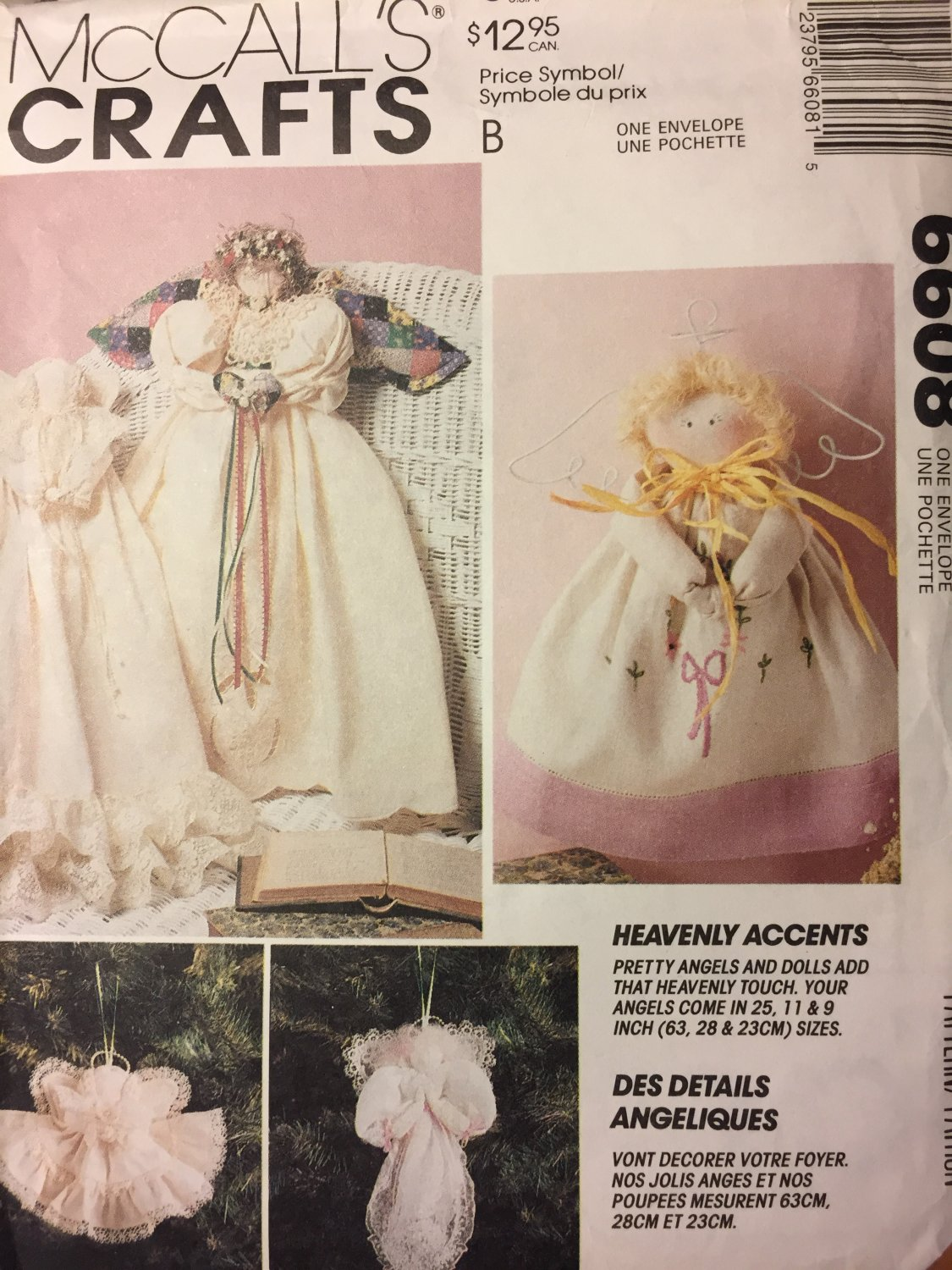 """SIMPLICITY 6608 SEWING Pattern Christmas Tree Angels Dolls 25"""" Craft"""