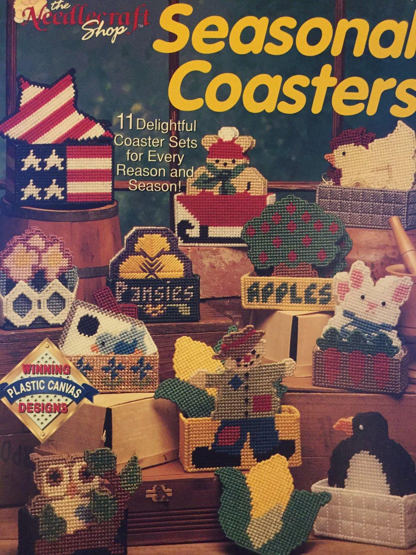 Seasonal Coasters & Holders 11 Sets winning plastic canvas patterns The Needlecraft Shop 913325