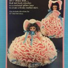 Mary Had A Little Lamb Pillow Doll, Music Box Doll, or Bed Doll Crochet Pattern Fibre Craft FCM164