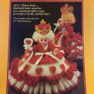 Queen of Hearts Pillow Doll, Music Box Doll, or Bed Doll Crochet Pattern Fibre Craft FCM161
