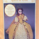 Queen of Gold Doll Gown for 15¨ doll Crochet Pattern Fibre Craft FCM244
