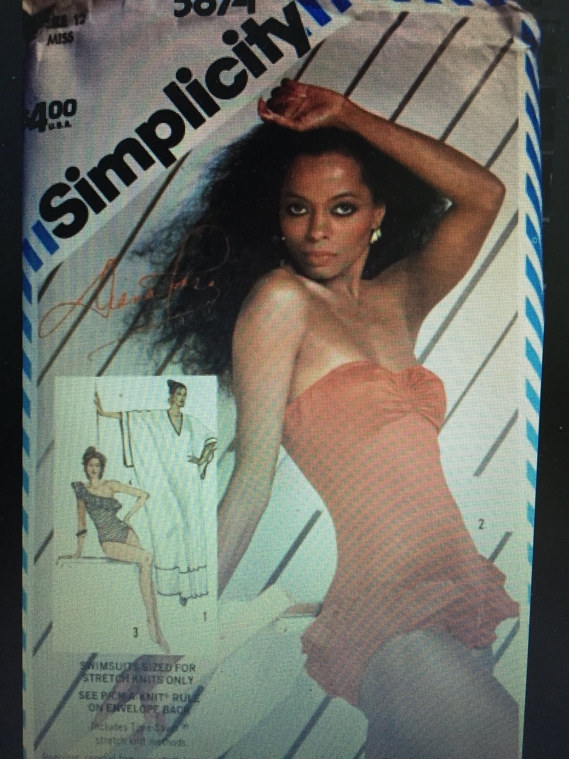 Simplicity 5874 Diana Ross Swimsuit and Caftan Sewing Pattern  SIZE 12