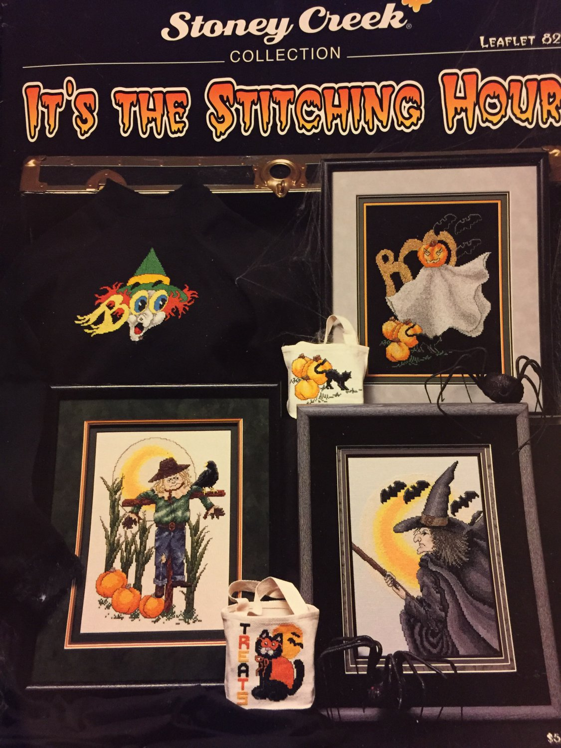Stoney Creek Collection It´s the Stitching Hour Halloween Leaflet 82 Cross Stitch charts