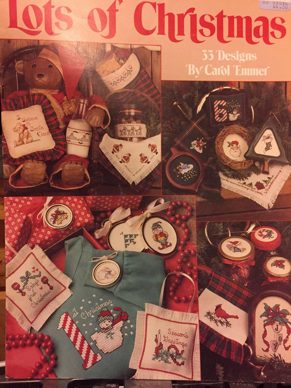 Lots of Christmas Leisure Arts  Pattern Leaflet #894, 1990 Cross Stitch charts