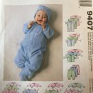 McCall's Infants' and Preemie layette sewing Pattern sizes 7 to 18 lbs