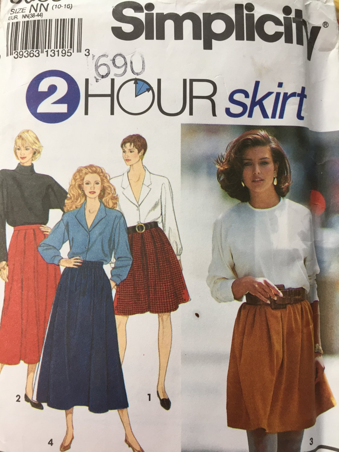 Simplicity Sewing Pattern 8069 Misses Womens Skirt Size 10-16