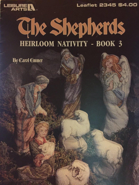 Leisure Arts The Shepherds Heirloom Nativity Book 3 Pattern Leaflet 2345 Cross Stitch charts