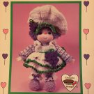 Grape Jelly Crochet doll pattern Lollipop Lane Dumplin Designs CDC403