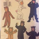 Butterick 3238 Children's Halloween Costumes Lion Rabbit Wild Cats Monkey Size 2-5