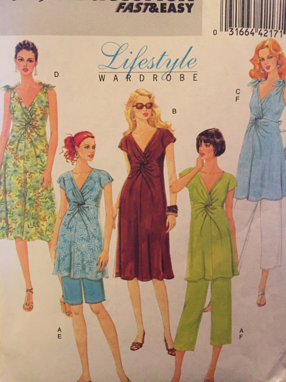 Maternity dress, top, pants UNCUT sewing pattern Size 16 - 24  Butterick 5196