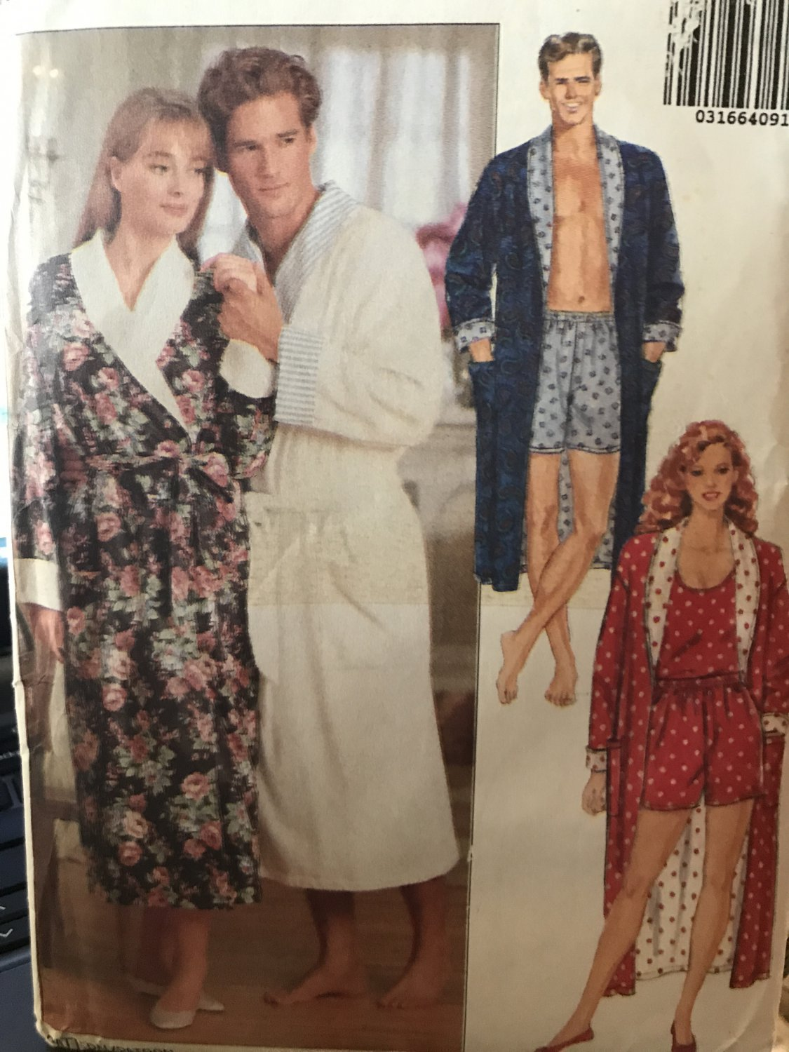 Butterick 5189 Mens Womens Easy Robe Shorts Tank Top Sewing Pattern Size LG XL Bust Chest 42-48