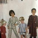 Simplicity 8493 Childrens' Pajamas, sleepwear,  Robe and Belt size 3,4,5, 6 Sewing Pattern