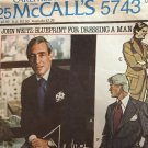 McCall's 6743 John Weitz: Blueprint for Dressing a Man; Men's Jacket size 44 sewing pattern
