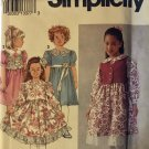 Simplicity Sewing Pattern 8147 Girls Below Knee Length Dress with Gathered Skirt, Vest Size 5 - 6X